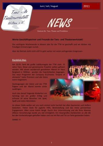Juni/ Juli/ August 2011 - Tanz- & Theaterwerkstatt Wilthen e.V.