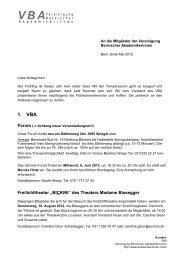 1. VBA - Schweizerischer Verband der Akademikerinnen