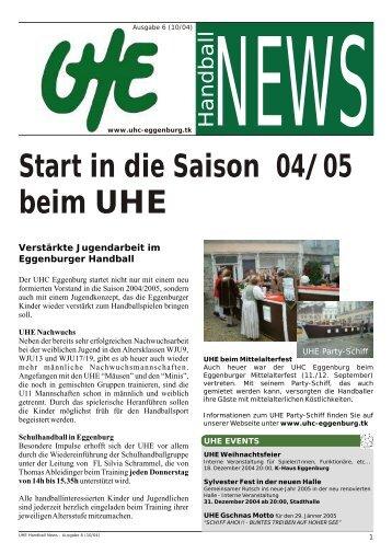 beim UHE Start in die Saison 04/05 - hoststar