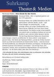 Marieluise Fleißer / Eine Zierde für den Verein - Suhrkamp