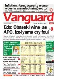 21092020 - Edo: Obaseki wins as APC, Ize-Iyamu cry foul