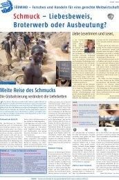 Schmuck – Liebesbeweis, Broterwerb oder ... - SÜDWIND-Institut