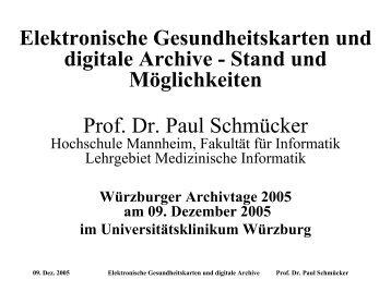 Dokumentenvolumen - Fakultät für Informatik - Hochschule Mannheim
