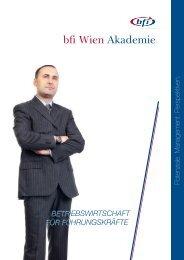 Lehrgangsfolder Akademie - bfi Wien