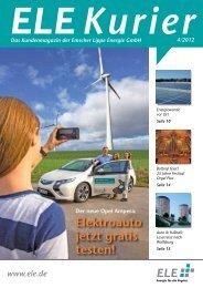 ELE Kurier 04/2012 - Emscher Lippe Energie GmbH
