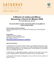 A Mission of Justice and Mercy: Becoming a Church for Mission 2030