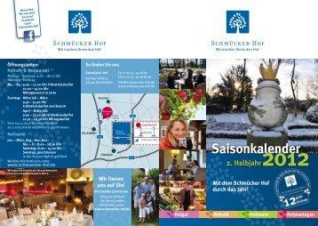 Saisonkalender 2012 - Schmücker Hof