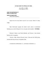 IN THE COURT OF APPEALS OF IOWA No. 2-562 / 11-0686 Filed ...