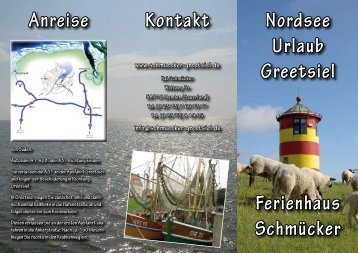 Nordsee Urlaub Greetsiel Ferienhaus Schmücker Anreise Kontakt