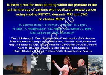 Is there a role for dose painting within the prostate in the primal ...