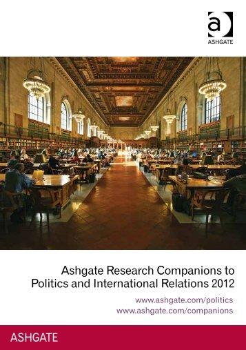 Ashgate Research Companions to Politics and International ...