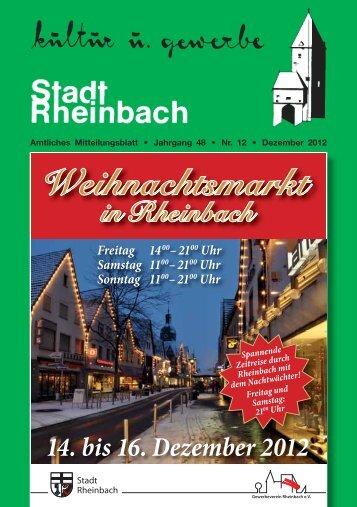 Dezember 2012 - Rheinbach
