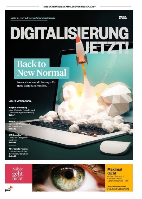 DIGITALISIERUNG JETZT! BACK TO NEW NORMAL