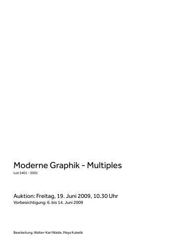 Moderne Graphik - Multiples - Koller Auktionen