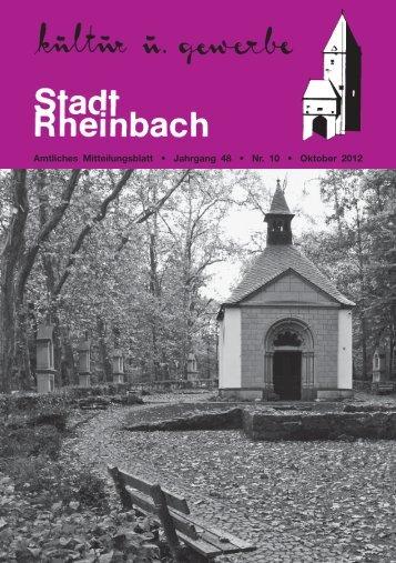 Oktober 2012 - Rheinbach