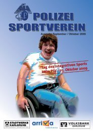 Ausgabe September/Oktober 2009 - Polizeisportverein Karlsruhe e.V.
