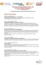 Programm der Aktionsfläche LitCam- live! - Bundesverband ...