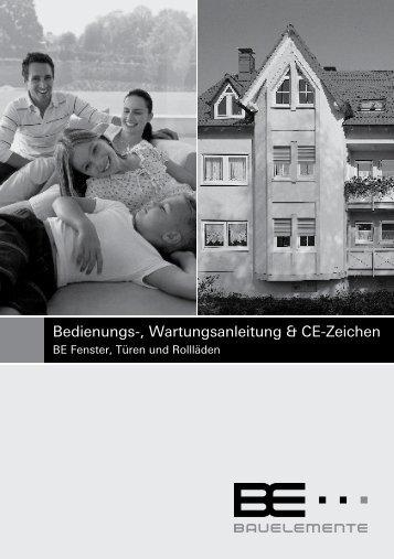 Bedienungs-, Wartungsanleitung & CE-Zeichen