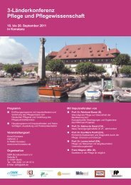 3-Länderkonferenz Pflege und Pflegewissenschaft - Amiando
