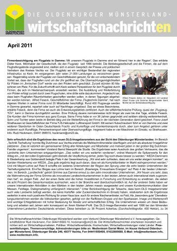 April 2011 - Verbund Oldenburger Münsterland