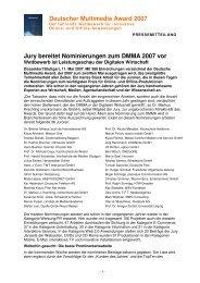 Deutscher Multimedia Award 2007 - Bundesverband Digitale ...