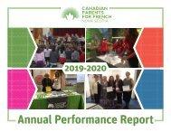 CPF Nova Scotia Annual Performance Report 2019-2020