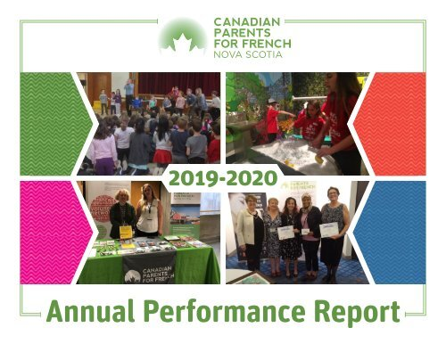 CPF Nova Scotia Annual Performance Report 2019-2020