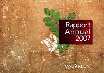 Rapport Annuel 2007 - Valorlux