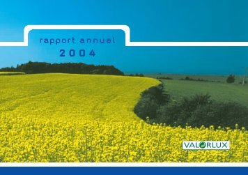 rapport annuel - Valorlux