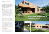 Massives Passivhaus im Moccaton Massives Passivhaus im ... - a-plus