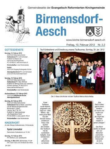 kolibri - Reformierte Kirche Birmensdorf-Aesch