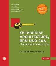 Enterprise Architecture, BPM und SOA für Business Analysten