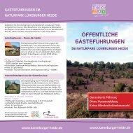 Öffentliche GÄstefÜhrungen - Naturpark Lüneburger Heide