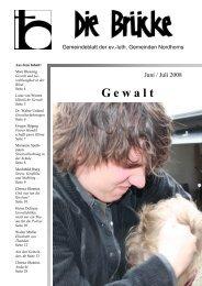 Juni-Juli 2008 - Lutherisch in Nordhorn