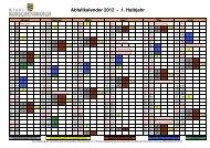 Abfallkalender 2012 - 1. Halbjahr