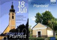 Pfarrbrief Atterseer Juli 2010 - Pfarre Maria Attersee - Diözese Linz