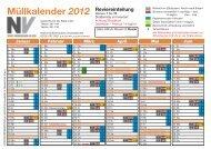 Müllkalender 2012 - Schönmackers Umweltdienste GmbH & Co KG