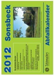 20122012 Abfallkalender Sonsbeck - Schönmackers Umweltdienste ...