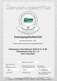 Schönmackers Umweltdienste GmbH & Co. & KG Mündelheimer ...