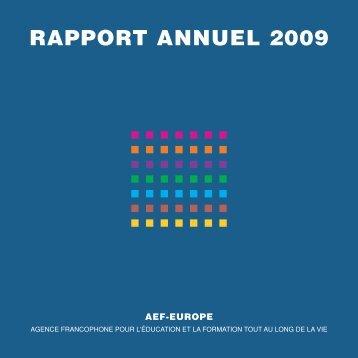 Téléchargez le rapport annuel 2009 - AEF Europe