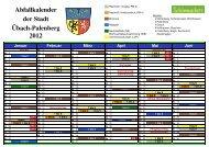 Abfallkalender der Stadt Übach-Palenberg 2012