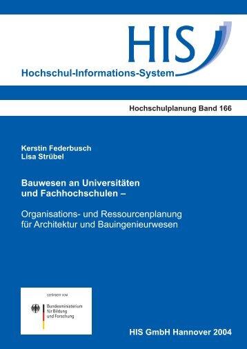 Bauwesen an Universitäten und Fachhochschulen