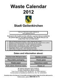 Waste Calendar 2012 - Stadt Geilenkirchen
