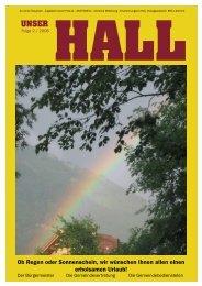 Ob Regen oder Sonnenschein, wir wünschen ... - Gemeinde Hall