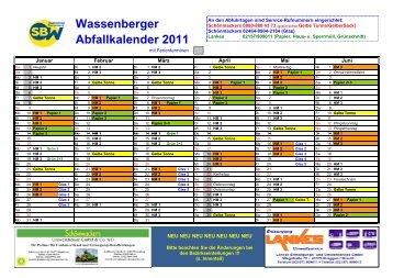 Wassenberger Abfallkalender 2011 - SPD Wassenberg