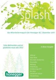 das Mitarbeitermagazin der Honegger AG | Dezember 2011 in ...
