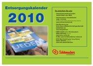 Entsorgungskalender 2010 - Gemeinde Uedem