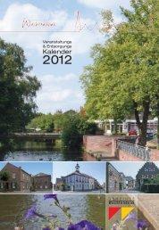 Veranstaltungs und Entsorgungskalender 2012 - in der Gemeinde ...