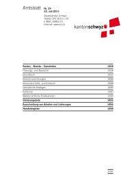 Amtsblatt Nr. 29 vom 22. Juli 2011 (700 - Kanton Schwyz