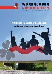 Würenloser Nachrichten 2/2012 - Gemeinde Würenlos